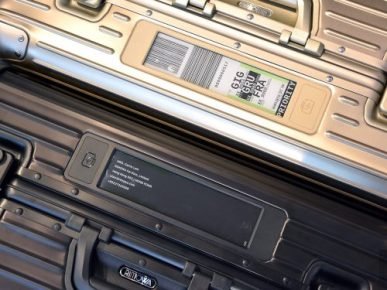 Rimowa's E-ink Luggage Tag is Why Your Next Suitcase Might Vanish e-Reading Hardware