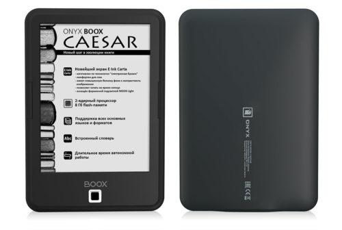 Onyx Boox Caesar - Android 4.2, Carta E-ink, $108 e-Reading Hardware