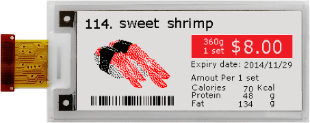 Three-Color Spectra E-ink Screens Now Available for DIY Projects