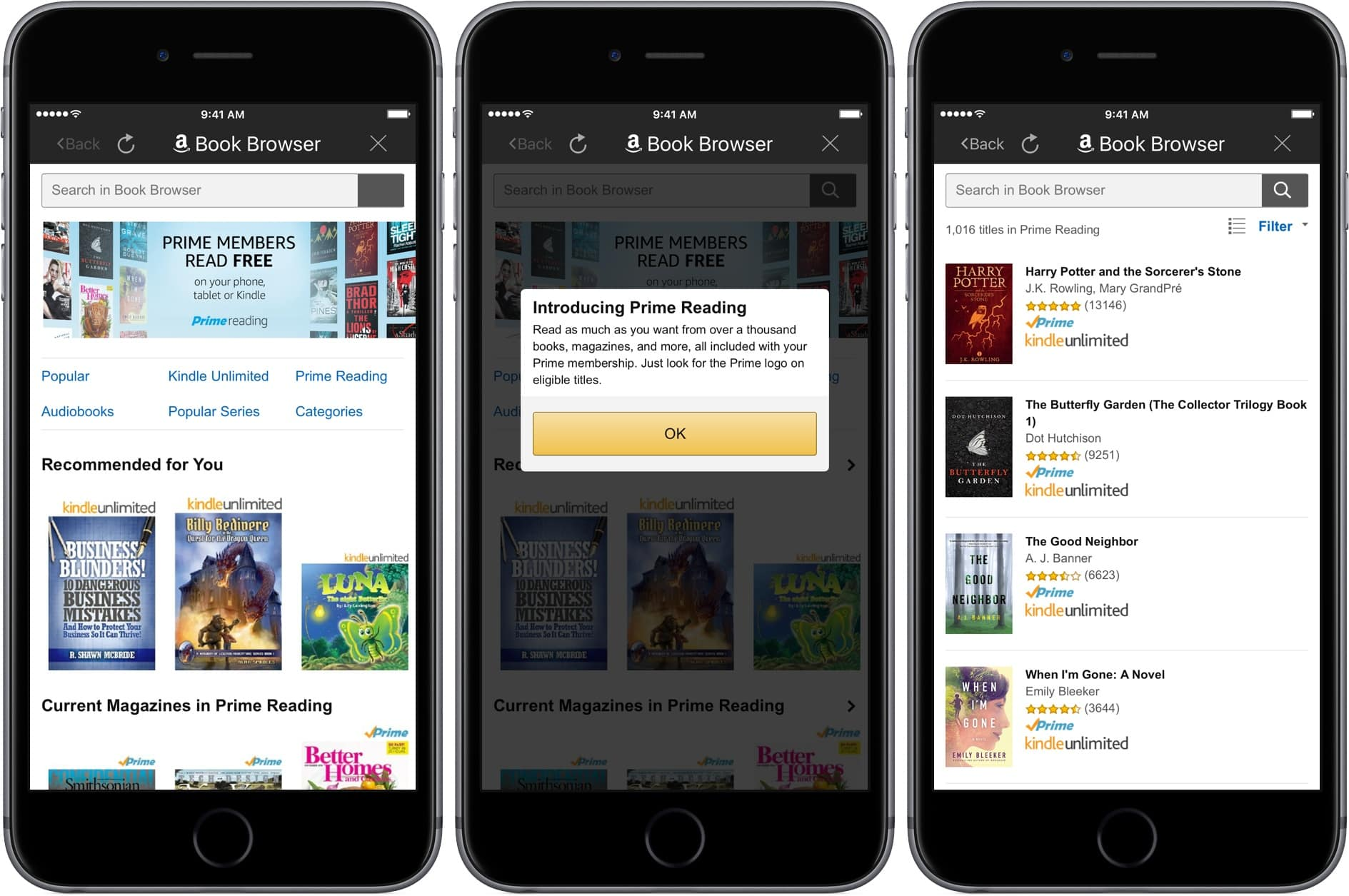 Amazon Prime Reading Added To The Kindle Ios App The