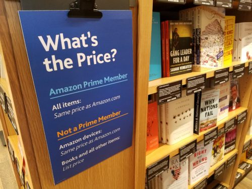 Amazon is Now Charging Non-Prime Member Customers List Price in Its Bookstores Amazon Bookstore