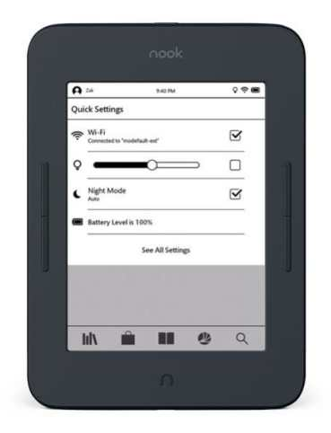 First Look at the New Nook Glowlight 3 Barnes & Noble e-Reading Software