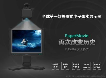 """Dasung PaperMovie Combines a Projector with a 13.3"""" E-ink Screen e-Reading Hardware"""