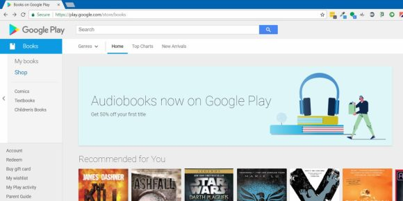 Google to Sell Audiobooks, Teases 50% Off Your First Purchase in Leaked Banner Audiobook Google Books Google Play