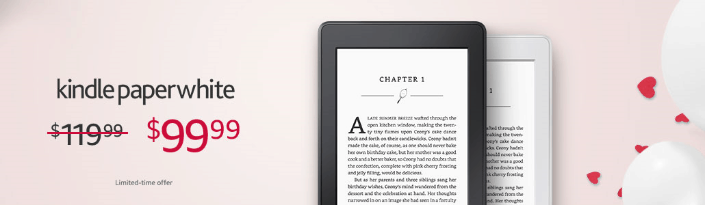 Fire Tablets, Kindle eReaders on Sale for Valentine's Day e-Reading Hardware Fire Kindle