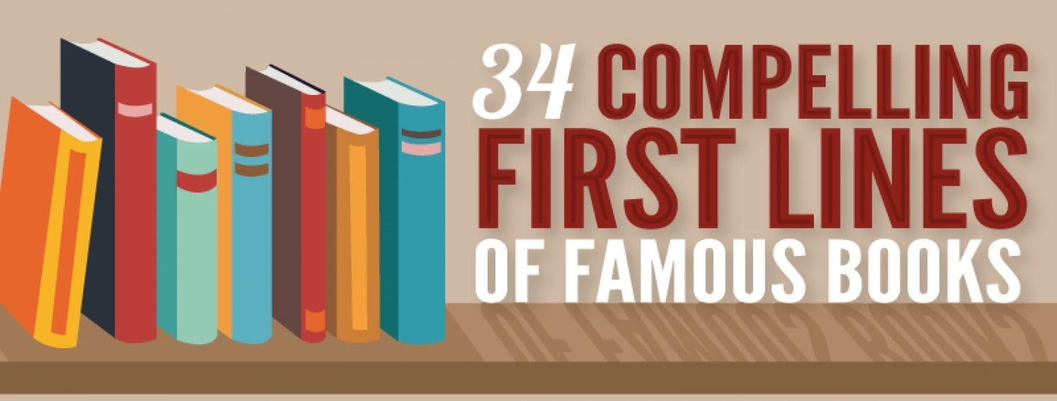 Infographic: Opening Lines Of 34 Famous Books