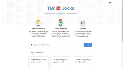 """With """"Talk to Books"""", Google Wants to Replace English Lit Professors Google Books"""