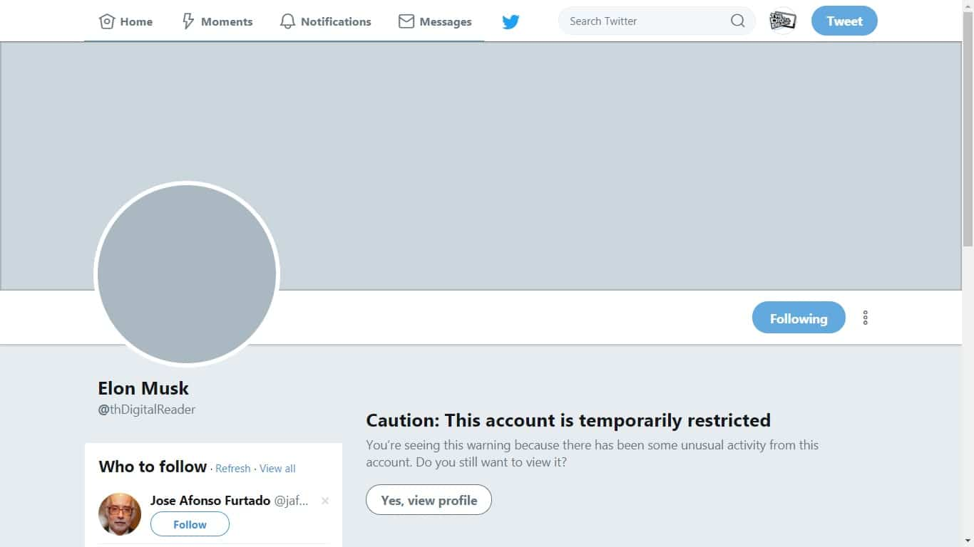 Twitter Will lock Your Account If You Change the Display Name to