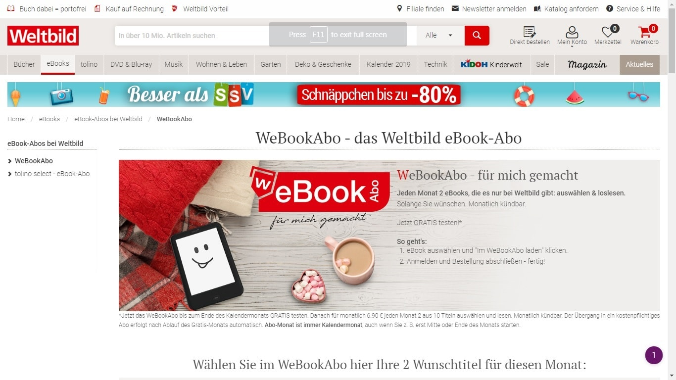 Germanys Weltbild Launches An Ebook Subscription Also