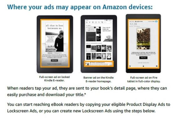 Amazon Drops Product Display Ads, Launches Lockscreen Ads for Authors Advertising Amazon Marketing