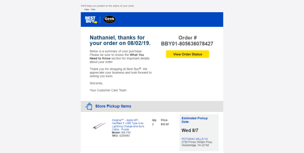 "Best Buy's ""Available for Pickup in 1 Hour"" Promise is a Lie Reviews"
