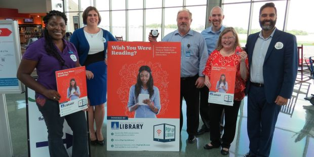 Pop-Up Library Opens at Baton Rouge Airport Digital Library