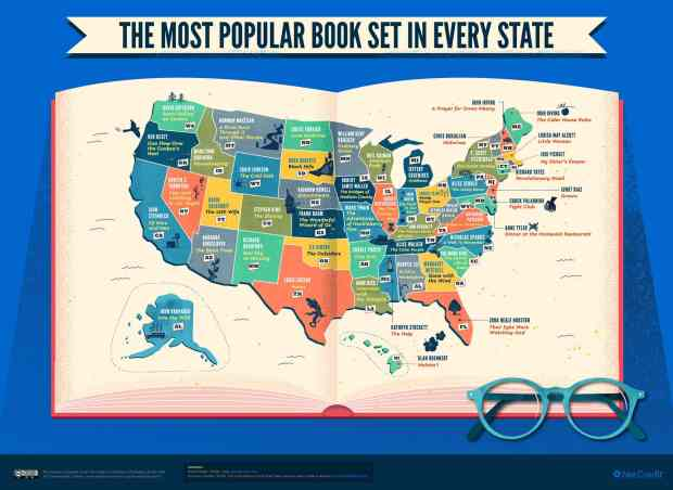 Infographic: The Most Popular Book Set in Each (US) State Infographic