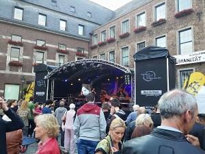 Bühne auf dem Marktplatz - Jazzrally 2015