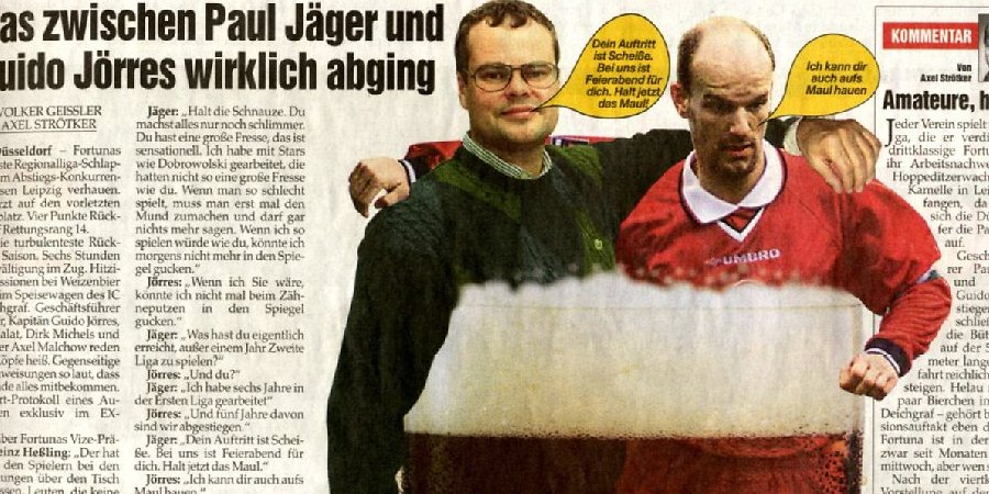 Legendär: Paul Jägers Disput mit Guido Jörres
