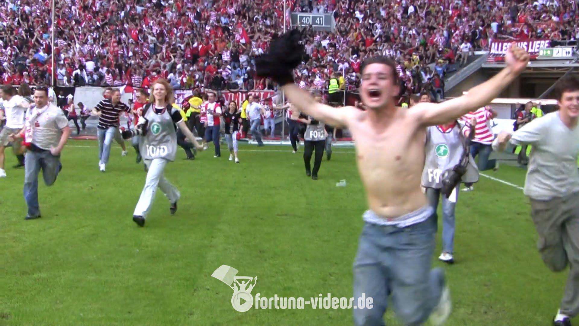 Fortuna-Aufstieg 2009: Nur echt mit Platzsturm