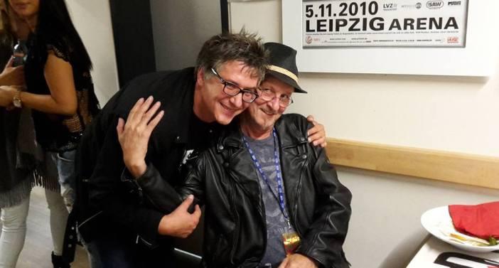 Opa mit Wölli, dem viel zu früh verstorbenen Ex-Drummer der Toten Hosen