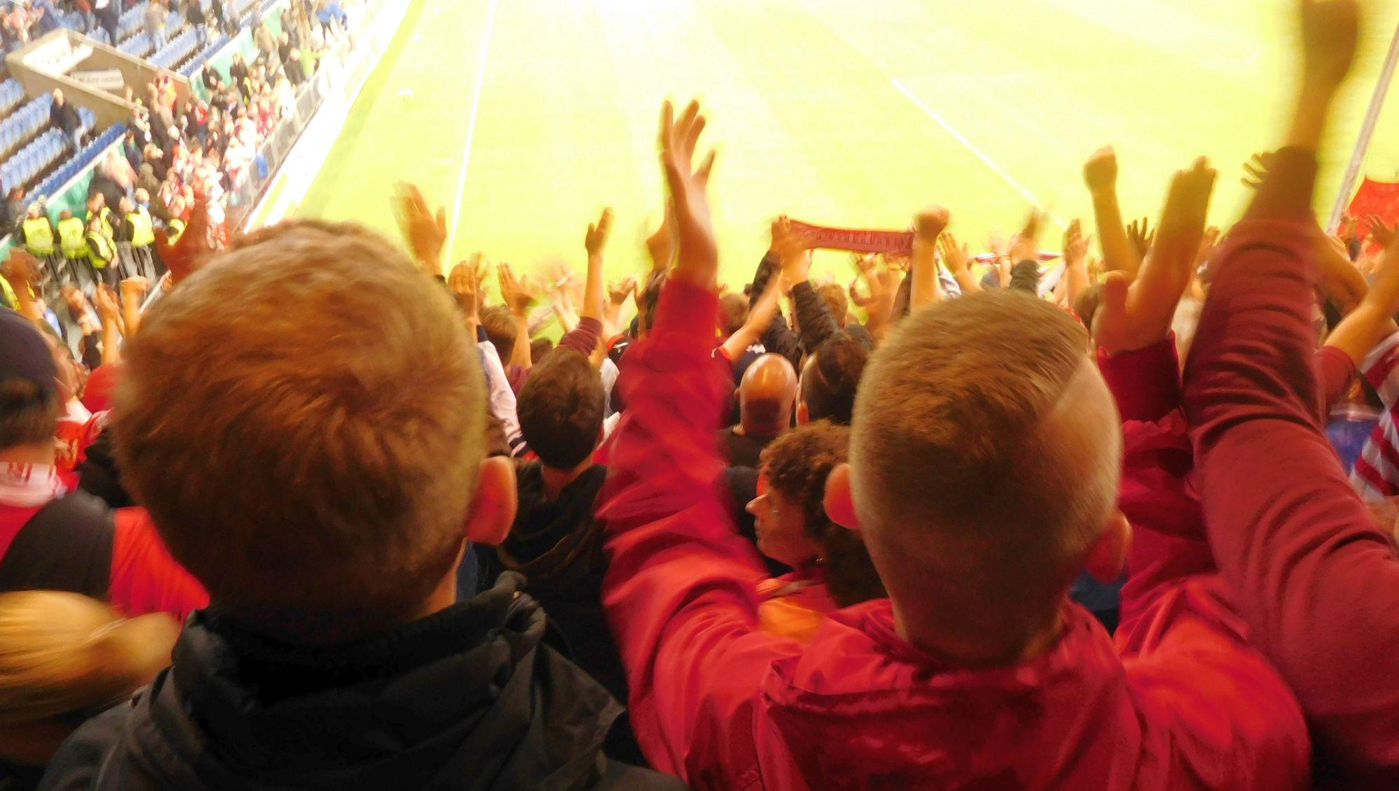 Bielefeld vs F95 1:3 - Siegesjubel