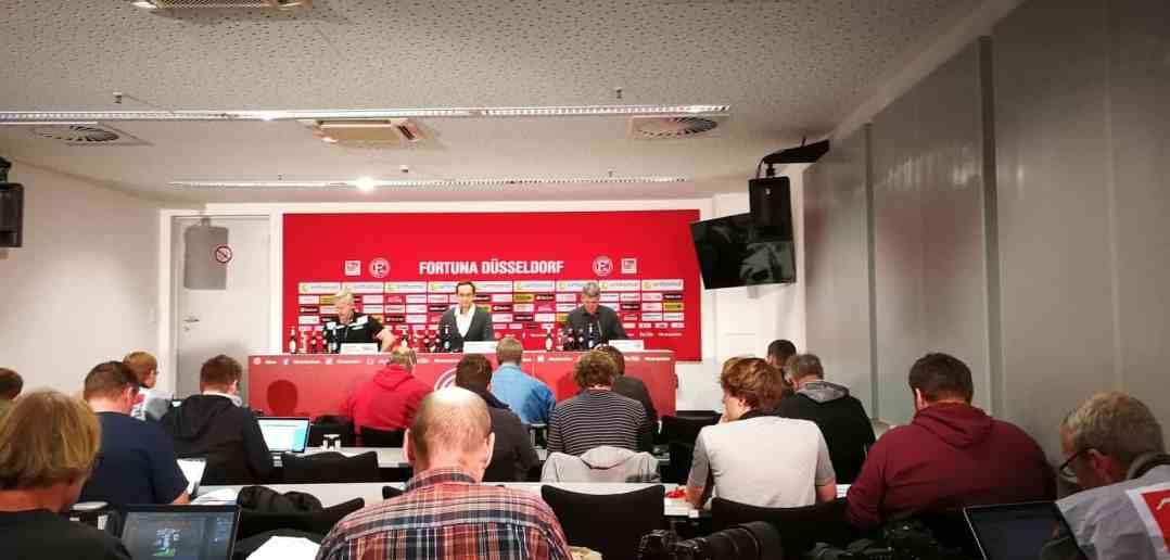Eine ultrakurze Pressekonferenz