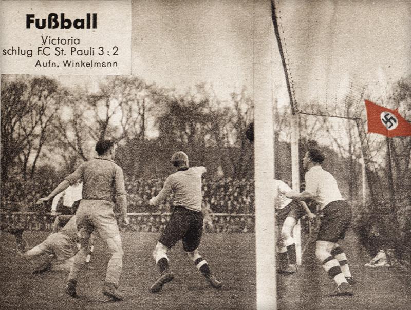 Ein Foto aus der St.-Pauli-Ausstellung zum Verein in der NS-Zeit