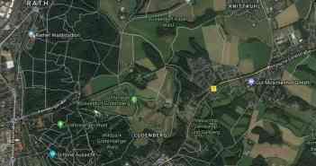 Google-Map: Die Region der Berg-und-Tal-Bahn