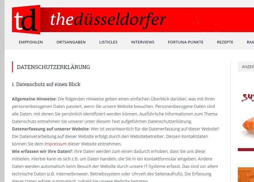 TD-Datenschutzerklärung