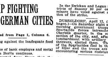 Die New York Times berichtet über die Niederschlagung des Aufstands