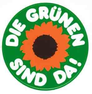 Die Grünen - der allererste offizielle Aufkleber aus dem Jahr 1980