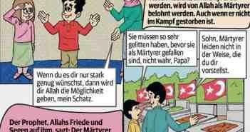Ausschnitt aus einem Ditib-Comic für Kinder, der zum Streitpunkt wurde