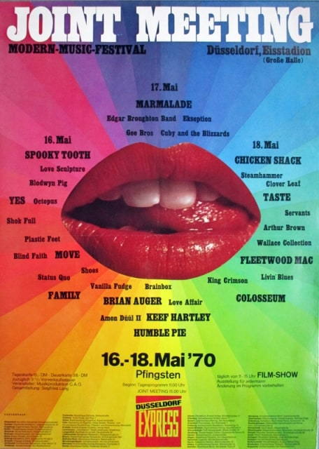 Eines der Plakate zum Joint Meeting 1970 im Eisstadion