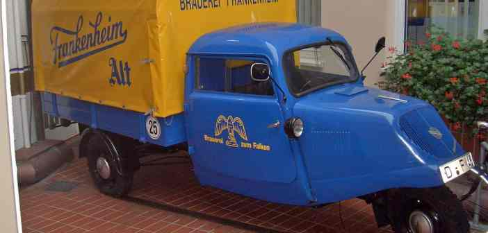 Frankenheims dreirädriger Lieferwagen - ein Museumsstück