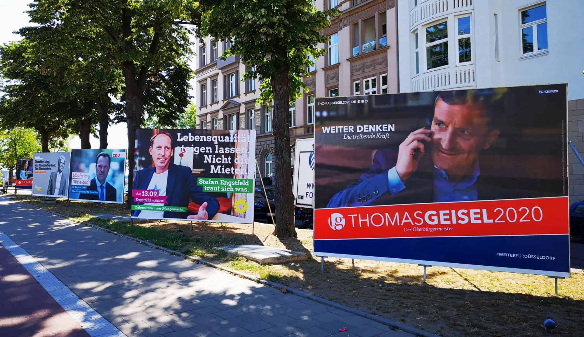 OB-Wahl: Die Grioßplakate der Aussichtsreichsten (eigenes Foto)