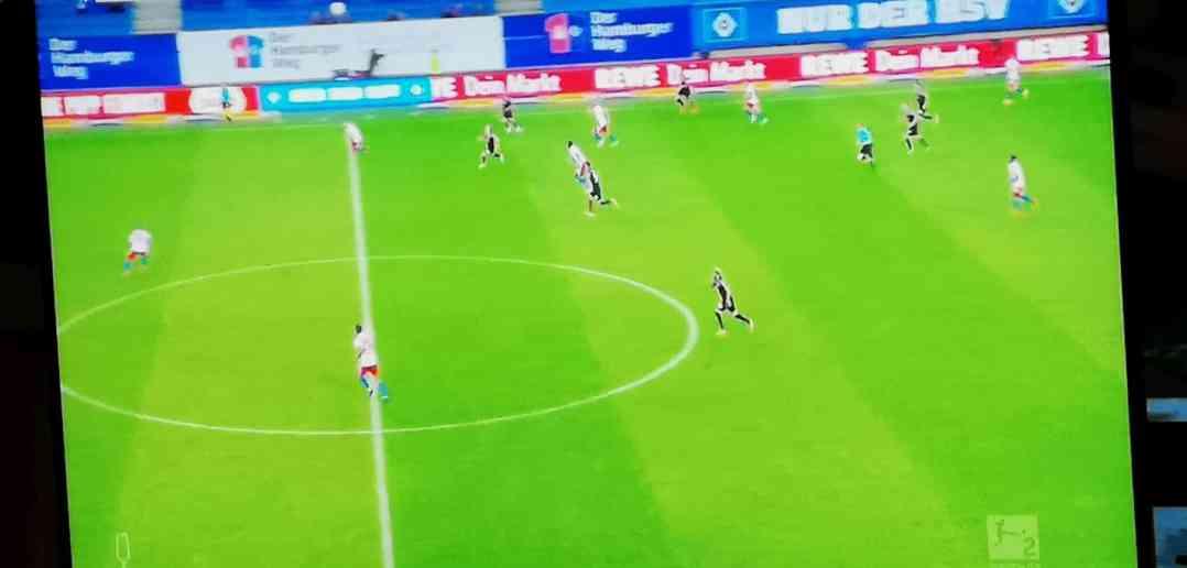 HSV vs F95: Das 1.= fiel nach einem völlig absurden Elfmeterpfiff (Foto: Sky-Screenshot)