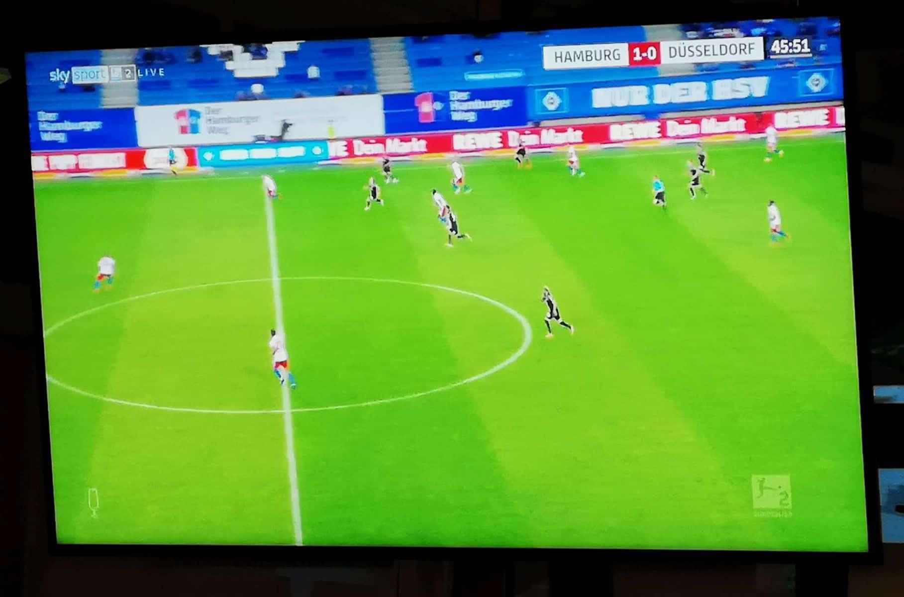 HSV vs F95: Das 1:0 fiel nach einem völlig absurden Elfmeterpfiff -im Hinspiel (Foto: Sky-Screenshot)