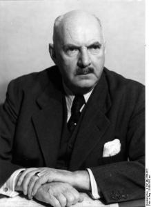 Porträt Robert Lehr von 1950 (Quelle: Bundesarchiv, siehe Bildnachweis unten)