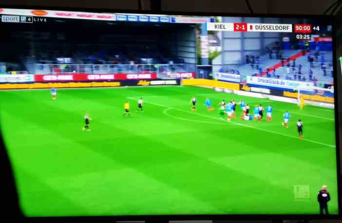 Kiel vs F95: Kurz vor Schluss