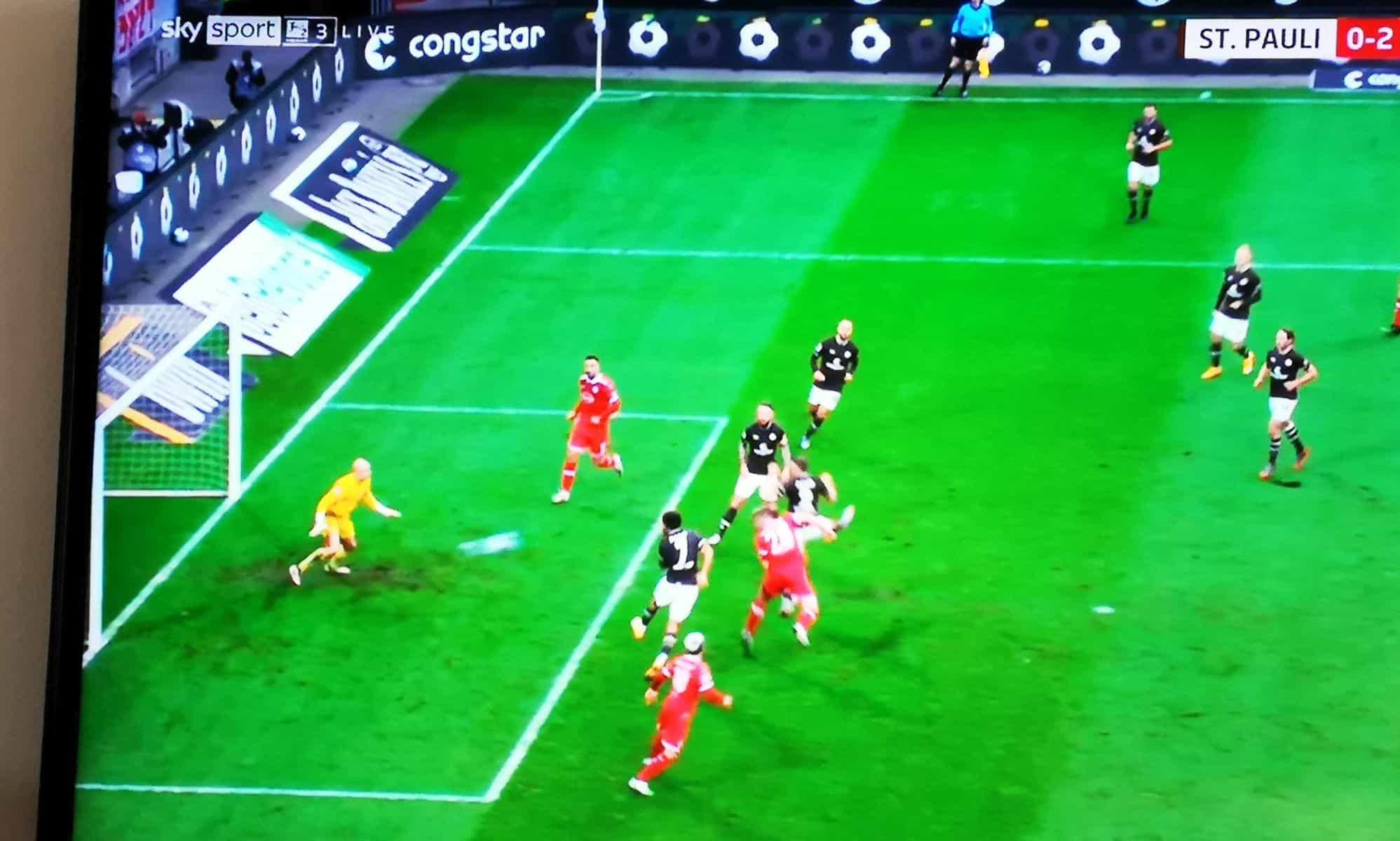 Pauli vs F95 - Hennings köpft das 2:0 (Screenshot)