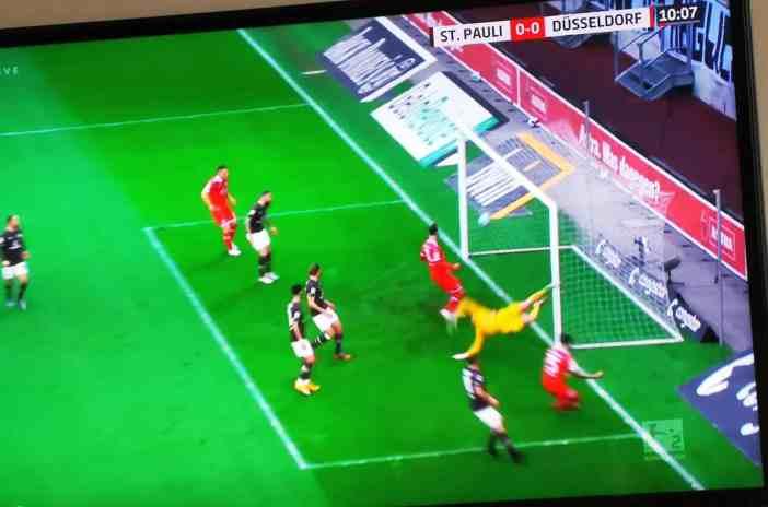Pauli vs F95: Zimbos Tor zum 1:0 (Screenshot)