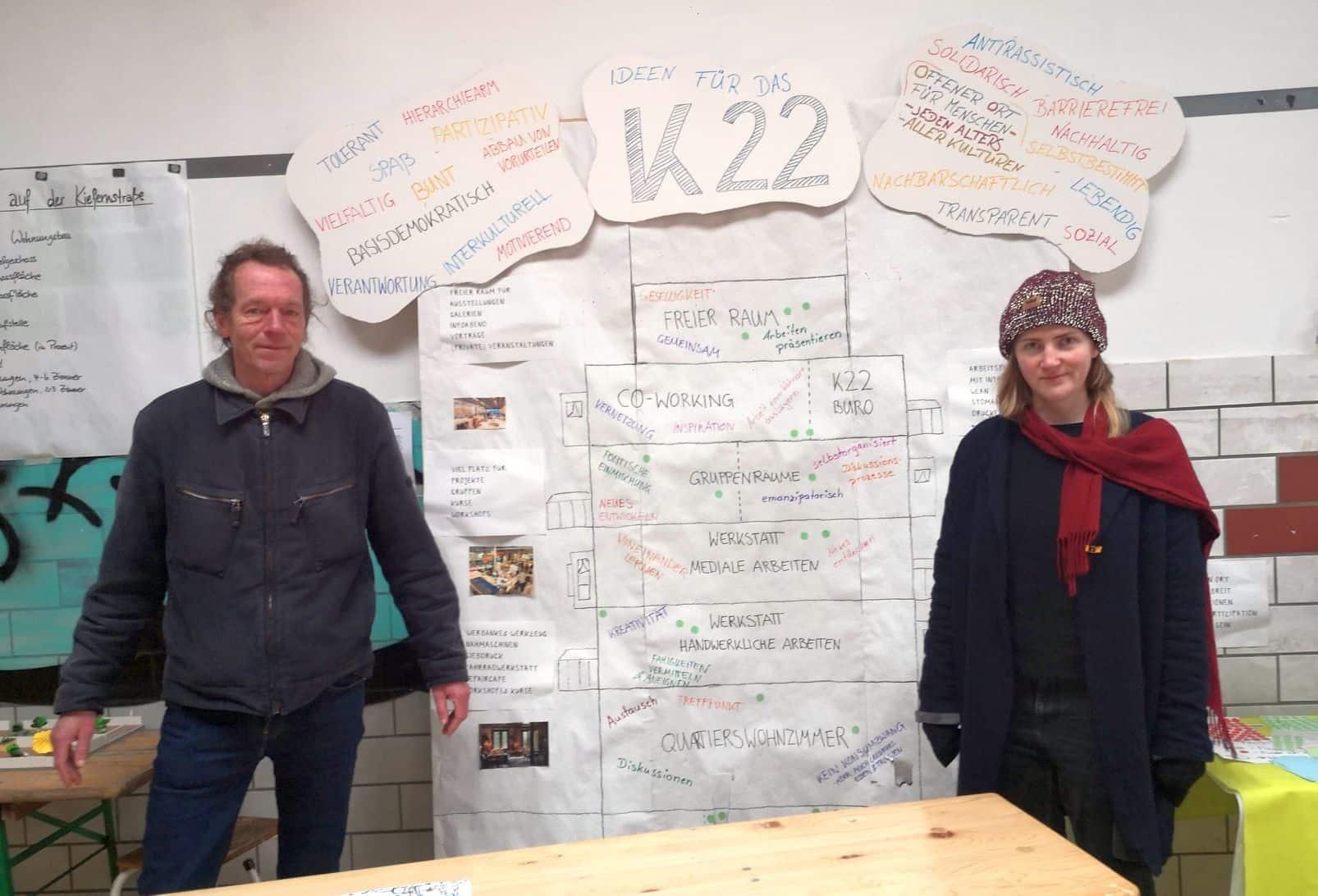 Harald Schwenk und Leonie Wendel von der Planwerkstatt 378 (Foto: M. Diederichs)