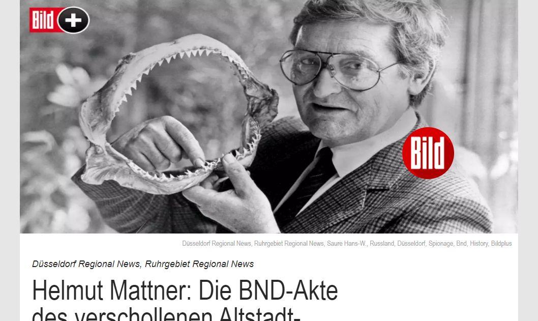 Helmut Mattner, der sagenumwobene König der Altstadt in den 60ern (Screenshot: BILD.de)