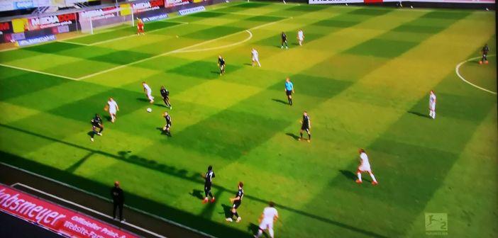 Paderborn vs F95: Hohes Pressing, auch dank Borrello (Screenshot: Sky)