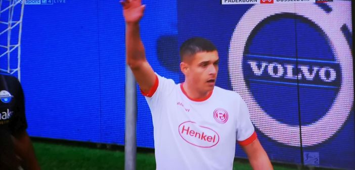 Paderborn vs F95: Kris Peterson, wieder bester Mann (Screenshot: Sky)