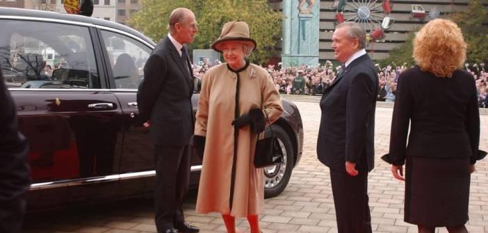 König Elisabeth und Prinz Phillip 2004 in Düsseldorf (Foto: Stadtarchiv)