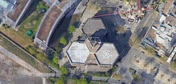 Google-Map: Das Rank-Xerox-Haus am Seestern von oben