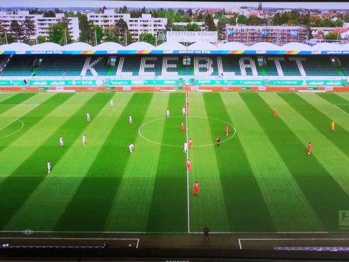 Fürth vs F95: Der Ronhof, Heimat des Kleeblattes (Screenshot Sky)