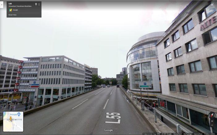 Google Streetview 2008: Eine Fahrt über den Tausendfüßler