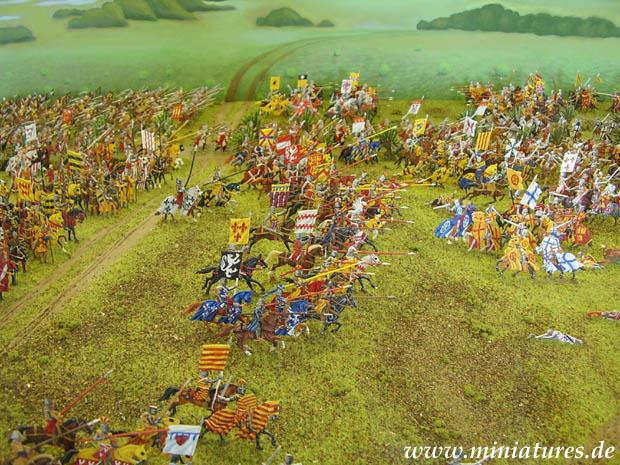 Die Schlacht mit Figuren nachgestellt als Diorama (Quelle: www.miniatures.de)