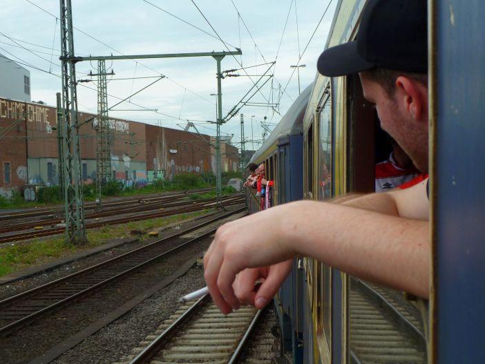 Relegation 2012: Der Sonderzug zur Hertha (Foto: TD)