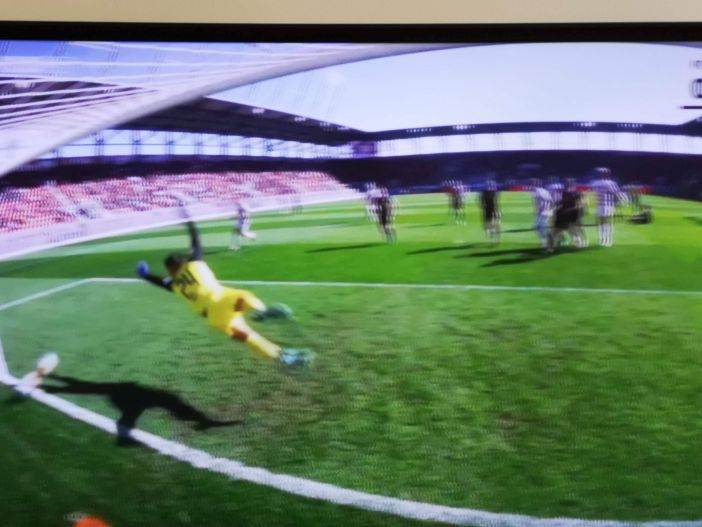 Ingolstadt vs F95: Das schicke 1:0 durch Hoffmann (Screenshot Sky)