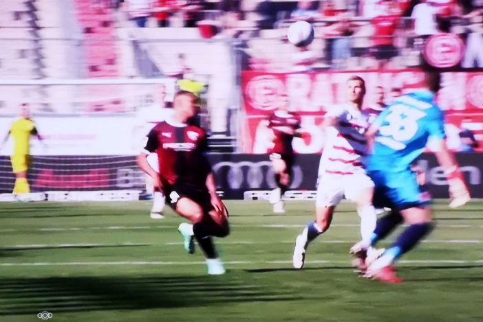 Ingolstadt vs F95: Der Kastenmeier-Moment in der 84. Minute (Screenshot Sky)